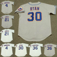 نيويورك 21 Warren Spahn 24 Art Shamsky 29 Ken Singleton 4 Ron Swoboda 21 Cleon Jones 30 نولان Ryan 36 Jerry Koosman Baseball Jersey