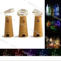 LED Strings Bottle Stopper Sliver 10LED 20LED Holiday Fairy Strip Wire Outdoor Party Decoration Novelty Lamp Cork Light String DHL