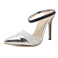 Mulheres PU Buckle Strap Pumps design sexy vestido Super High Heel Recorte vestido sapatos partido Ladies Shoes