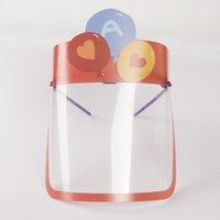 US Stock! Kids Cartoon Rabbit Bear Rainbow Face Shield With Goggles Kawaii Säkerhet Oljestänk Säkert Anti-UV Barn Skyddande Ansiktslock FY8094