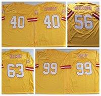 Futbol Formalar Mike Alstott Hardy Nickerson Lee Roy Selmon Warren Sapp Sarı NCAA Yüksek Kalite Jersey Erkekler Retro Dikişli