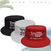 Trump Fisherman Cap Trump 2020 Presidente Elezione ricamo Keep America Great Again Cappello benna esterna Cappello LJJO8210