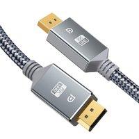 DisplayPort Kablosu 1.4 8 K @ 60Hz DP Kablo Video PC Dizüstü Bilgisayar TV Oyun Monitörü Için Yüksek Hızlı Ekran Bağlantı Noktası Adaptörü 1 M 2M 3M JK2008KD