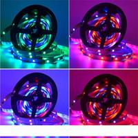 Hot 30 60 LEDs M 2811 Pixel Programmierbare Einzel Adressierbarer LED Digital Streifenlicht WS2811 5050 RGB 12V Schwarz LED-Band-Lampe