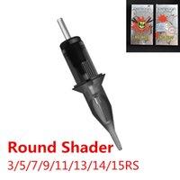 Vespa grande cinzento Evolved cartuchos agulha de tatuagem - redondo Sombreadores 3/5 / 7/11/9/13/14 / 15RS CX200805