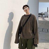 Mens Casual Striped Streetwear Толстовки Толстовки Thin Hip Hop Красочный Мода Крупногабаритные толстовки с длинным рукавом Мужские пуловеры