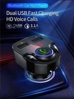 자동차 FM 송신기 MP3 플레이어 블루투스 5.0 보조 변조기 핸즈프리 차량용 키트 오디오 3.1A 급속 충전 듀얼 USB 충전기 Mzs8 번호