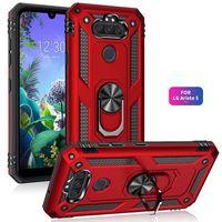 Robusto Armatura Kickstand della cassa del telefono per LG K51s K40s K61 K51 K50 K50s PC + di TPU di copertura posteriore per il LG Harmony 4 Stylo 6 5 Aristo 5 4