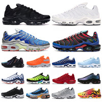 Top Fashion Parachute Tn Plus SE mens running shoes triple black white Throwback Future Psychic Blue Arctic Chill trainers sneakers US 5-12