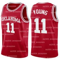 NCAA Trae 11 Junge Oklahoma Sooners College-23 Michael MJ North Carolina State University Lower Merion High School Basketball Jersey