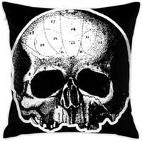 UE Skull Black Label Society Cuscino quadrato decorativo copridivano Getta federa 18 x 18 pollici 45 x 45 cm