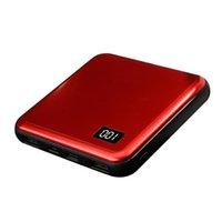 10000mAh-Powerbank mit LED-LCD-Display Mini tragbarer Quadratischer Bateria externes Universal-Smartphone-Handy-Ladegerät