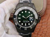 Relógios de pulso relógio de ouro relógio de diamantes fábrica N Preto Samurai 904L fina de aço 3135 movimento mostrador preto anel de cerâmica