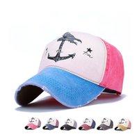 힙합 스냅 백 모자 커플 모자 남성 여성 순수한면 야구 모자 오래된 해적선 앵커 gorras 모자 세척 할
