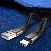 빠른 안드로이드 삼성 화웨이 충전기 동기화 케이블에 대한 데이터 나일론 브레이드 타입 C 케이블 코드를 충전 유연한 USB 케이블 높은 인장 3A