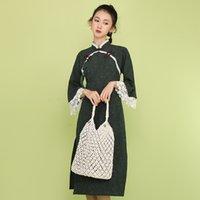 Robe traditionnelle chinoise pour les femmes Vintage Oriental cheongsam moderne Amélioration qipao Robe Femme élégante qipao Vestido