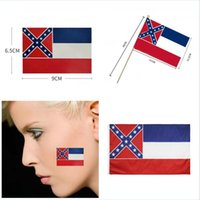 150 * 90CM ميسيسيبي الولايات المتحدة علم الدولة ميسيسيبي باليد يلوحون بالاعلام 21 * ل 14cm الولايات المتحدة دولة العلم ملصق مطبوع DDA265