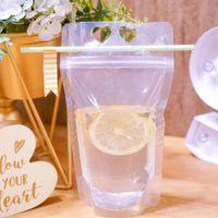 يمكن التخلص منها صلاة الحقيبة على شكل قلب البلاستيك متجمد عصير المشروبات القهوة حليب التغليف مطبخ الغذاء حقيبة التخزين