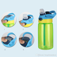 16oz Kids Water Bottle Sippy Cup BPA Free Plastic Tumblers Leak Proof Sport Water Bottles With Flip Lid Leak Spill Proof Mug BH3185 DBC