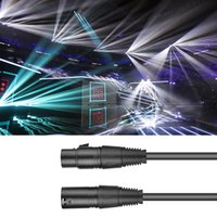 Professional XLR fio masculino para feminino Stage Luz cabo de áudio cabo do microfone cabo Stage aparelho de iluminação