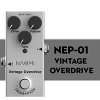 Педаль NAOMI Effect гитара Vintage Overdrive Эффект DC 9V Правда обхода для гитары Electric