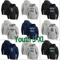 청소년 2021 시애틀 Kraken 아이스 하키 까마귀 32 번째 새로운 팀 사용자 정의 키즈 든 모든 이름 모든 이름 모든 이름 스티치 하키 유니폼 스웨터