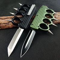 Boks Seti Otomatik Bıçak Çift Eylem Taktik Mikro Bıçaklar Teknoloji Karbür Sınıfı Kesici Alüminyum Kolu Pocket Bıçak Açık Oto EDC Aracı