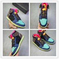 Com caixa de Best Best alta OG 1 Bio Corte 2020 1s barroco Brown Black-Laser Orange-Racer rosa Mens Basketball Shoes Men Sports Sapatilhas 555088-2