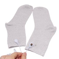 Silver Conductive Electrode Massage Socks Use For TENS/EMS Machines