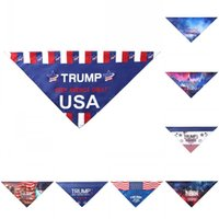 Präsident General Wahlen Dreieckstuch amerikanische Trump Biden Haustiere Schal Hund und Katze Artikel Haustiere Supplies Recht 7bma E2
