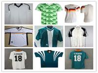 Rétro Allemagne 19801988 1990 1992 1998 1998 2004 Jerseys de football Klose Muller Klinsmann Mathaus Home Chemise de football rétro