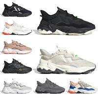 Adidas barato Ozweego Chaussures homens mulheres sapatos ao ar livre cinza nuvem solar verde trilha branco preto dos homens do instrutor das sapatilhas esportivas