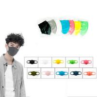 Máscaras unisex para niños adultos mascarillas faciales Earloop plegable respiradores bucales lavable a prueba de polvo de esponja máscara opp máscaras del partido de protección