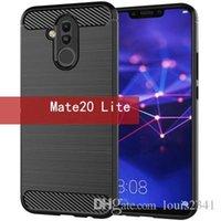 Huawei Mate20 için Sağlam Zırh Vaka P10 P20 Lite yanlısı Pro onur 7x 8x 9 Lite Karşıtı Şok Emme Karbon Elyaf kapak mate30