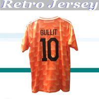 1988 HOLLAND RETRO VINTAGE Gullit Van Basten Tailândia Qualidade 88 camisas de futebol uniformes camisa Football Jerseys bordado camiseta futbol