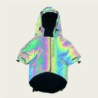 Tide Марка Pet куртка Светоотражающей Марки собака пальто ветрозащитной непромокаемые собаки Одежда Модного Pet Дождевик пудель Тедди Бульдог шнауцер