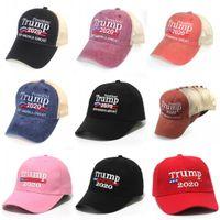 11 tipi presidente presidenziale americana Trump mimetico Baseball Cap trump2020 cappello ricamo Stampa Baseball Cap