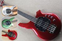 شحن مجاني Music M 4 سلسلة Bass، Bongo Bass Guitar، Red Green Guitar، حزمة البطارية المزدوجة، روزوود الأصابع القمر البطانة، 24 FRET، HH التقاطات