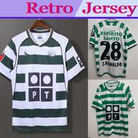 S-2XL Sporting Lissabon Retro 2002 2003 Soccer Jerseys # 28 C.ronaldo 01 03 Vintage Maillot Danny Camisa de Futebol Sa Pinto Fotbollskjortor