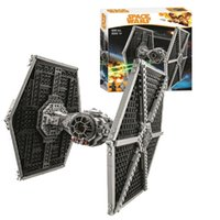 Ladrillos de la serie 10900 Star Wars TIE Fighter bloque hueco 550pcs juega compatible con el lepines 75122 CX200612