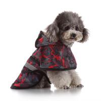 반사 방수 개 비옷 의류 반짝이 비가 케이프 망토 여름 애완 동물 강아지 의류 의지와 모래 드롭 우주선