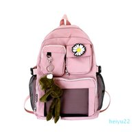 Designercapacity schoolbag women's original home ulzzang high school students Hong Kong Style backpack junior high school versatile Backpack