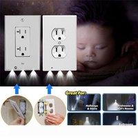Fiş Kapak Gece aydınlatması LED PIR Hareket Sensörü Güvenlik Işık Melek Duvar Çıkışı Koridor Yatak Odası Banyo Gece Lambası