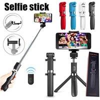 L01 sem fio Bluetooth Remoto Extensível Selfie Stick Celular Suporte 3 em 1 Tripé de Câmera para Smartphone MQ20
