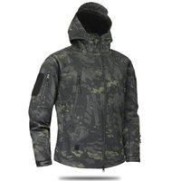 Giacche da uomo Bomber Giacca Uomo Autunno Inverno Camouflage Fleece Softshell Esercito Tattico Maschile Vernici A Vita A Vita Abbigliamento Hombre