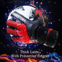Hombres niños tamaño látex profesional fútbol portero guantes de marca fuerte portero guantes látex fútbol portero fútbol