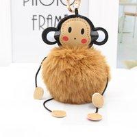 Мультфильм супер мило мило обезьяна мех мяч брелок творческого плюшевого мешок кулон автомобиль украшение, персонализированный брелок