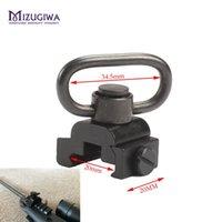 """MIZUGIWA botón pulsador 20mm QD Heavy Duty Quick Release 1.25"""" adaptador giratorio de la honda del conjunto de montaje de Picatinny Rail Base de la vista del rifle"""