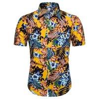 New Hawaiian Cabbage and Chili Flower Shirts Series Men Summer Casual T-shirts Outddoor Wear Shirt CS139