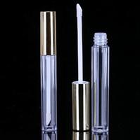 골드 캡 새로운 SN4497 도매 뜨거운 300PCS 10ML 미니 라운드 립글로스 튜브 화장품 패키지 입술 광택 병 빈 용기